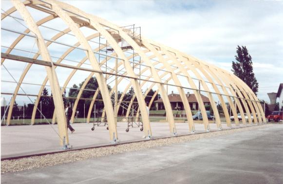 Construction du court couvert